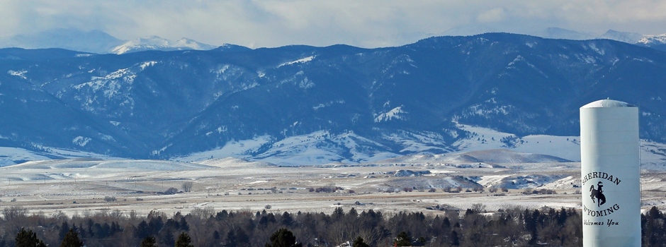 Sheridan Wyoming mountains - in winter